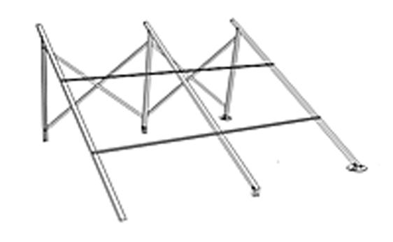 Крепления на плоскую крышу 58-1800-30 для СВК-Twin Power (нерегулируемое) - фото