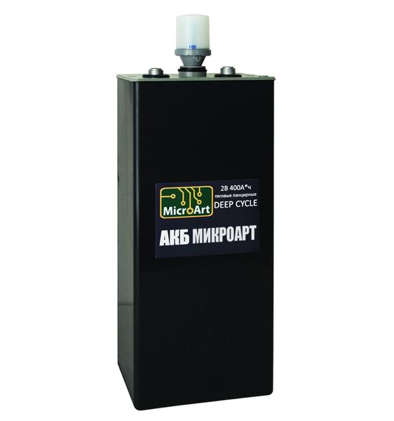 Аккумуляторная батарея МикроАрт тяговая 2*400 (обслуживаемая) - фото