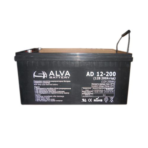 ккумуляторная батарея Alva AD12-200 AGM - фото