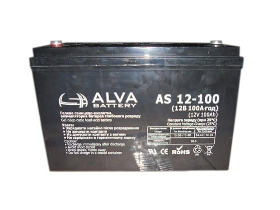 Аккумуляторная батарея Alva AS12-100 GEL - фото