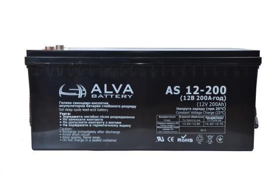 Аккумуляторная батарея Alva AS12-200 GEL - фото