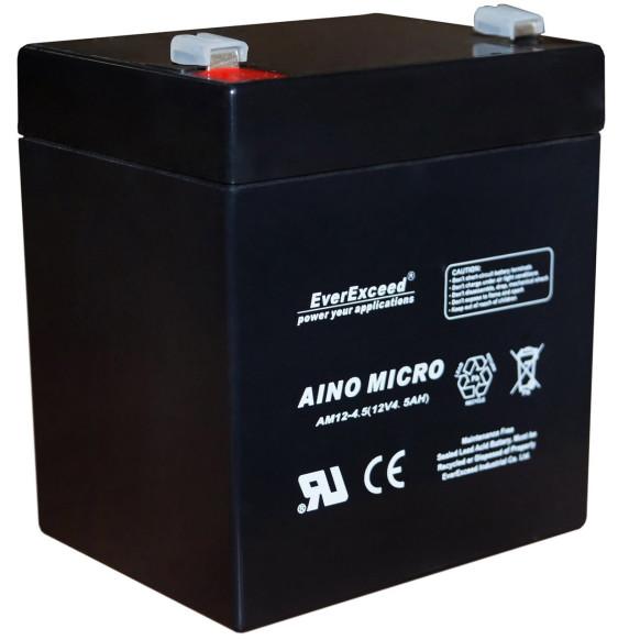 Аккумуляторная батарея EverExceed AM 12-4,5 (12В/4,5Ач) - фото