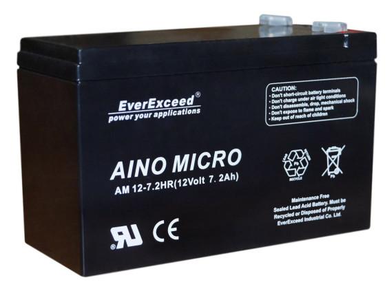 Аккумуляторная батарея EverExceed AM 12-7,2hr (12В/7,2Ач HR) - фото