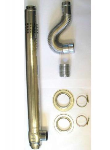 Дымоход коаксиальный EMF | RMF | 1000 мм | STRIGHT L-type Ø75/100. 1000 - фото