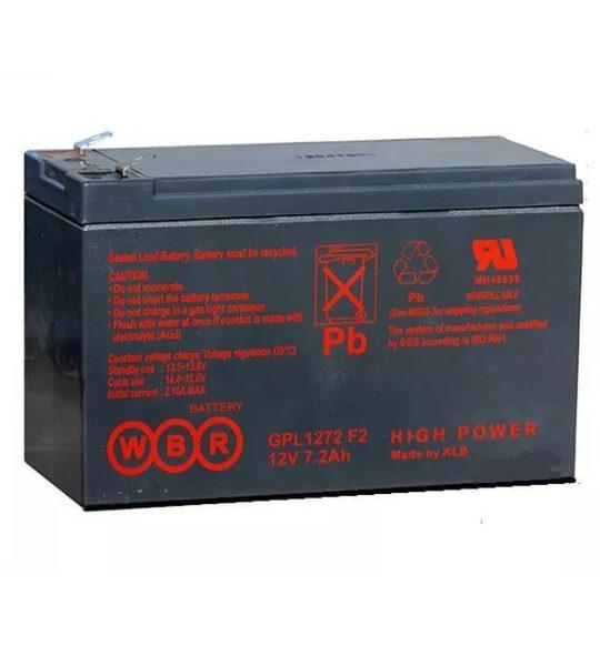 Аккумуляторная батарея WBR GPL 1272 - фото