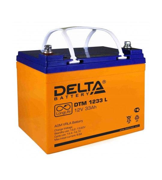 Аккумуляторная батарея Delta DTM 1233 L AGM - фото