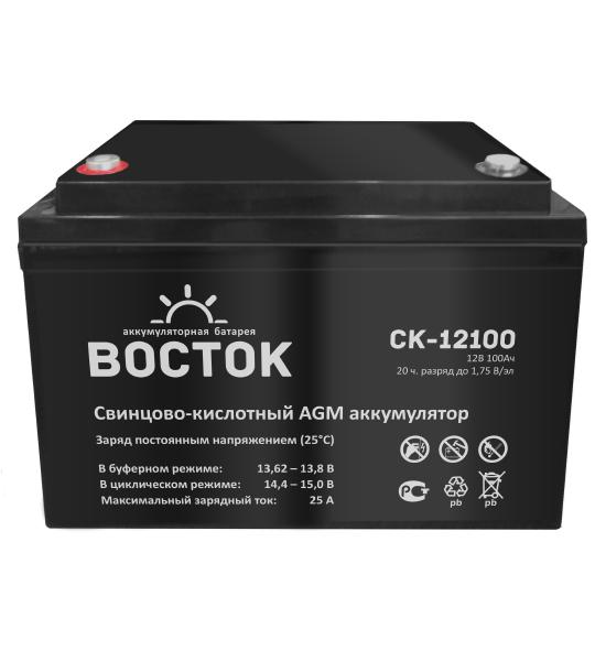 Аккумуляторная батарея Восток СК 12100 AGM - фото