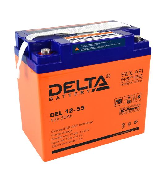 Аккумуляторная батарея Delta GEL 12- 55 - фото