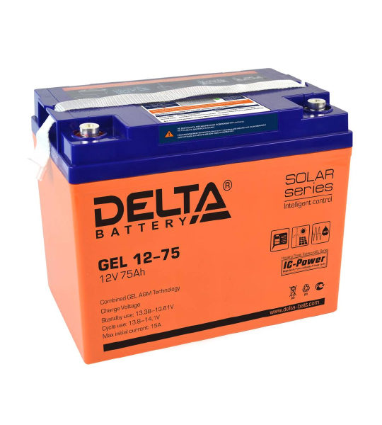 Аккумуляторная батарея Delta GEL 12- 75 - фото
