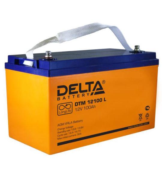 Аккумуляторная батарея Delta DTM 12100 L AGM - фото