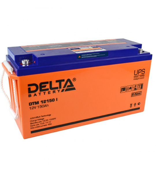 Аккумуляторная батарея Delta DTM 12150 I AGM - фото