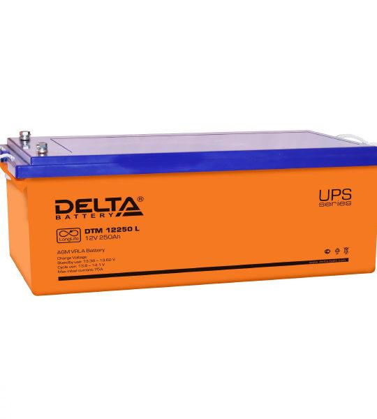 Аккумуляторная батарея Delta DTM 12250 L AGM - фото