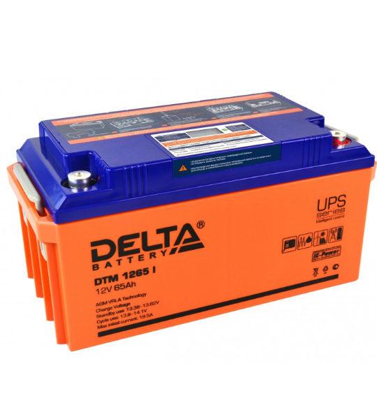 Аккумуляторная батарея Delta DTM 1265 I AGM - фото