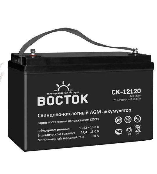 Аккумуляторная батарея Восток СК 12120 AGM - фото