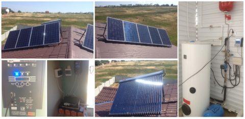 Комбинированная солнечная система для частного дома фото