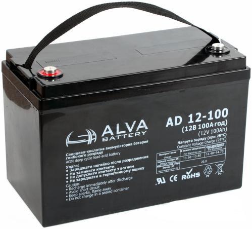 Аккумуляторная батарея Alva AD12-100 AGM - фото