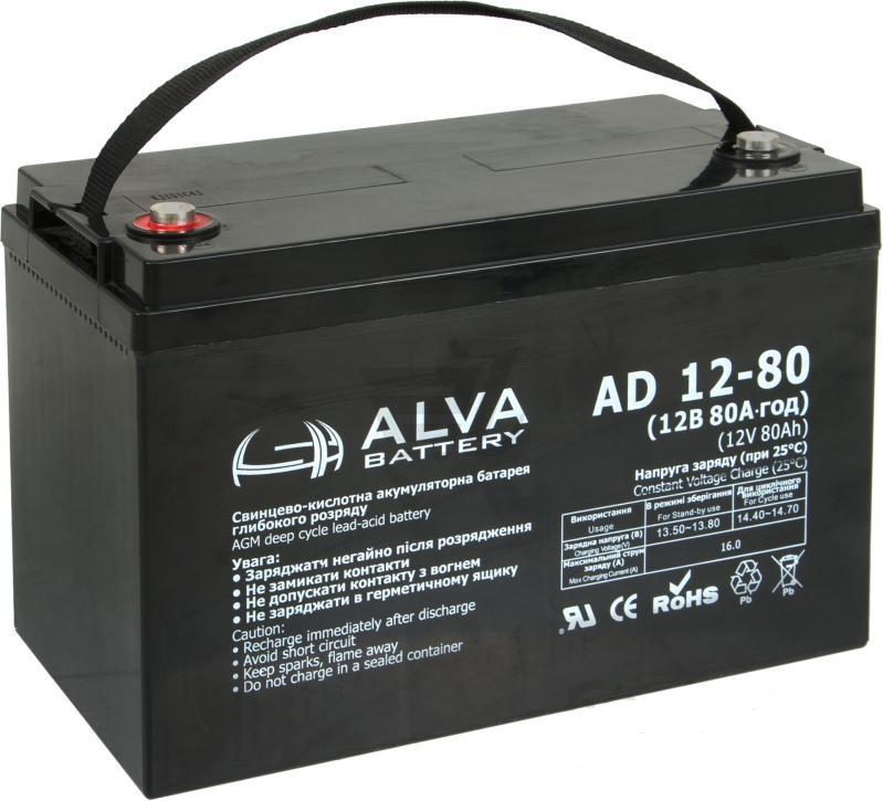 Аккумуляторная батарея Alva AD12-80 AGM - фото
