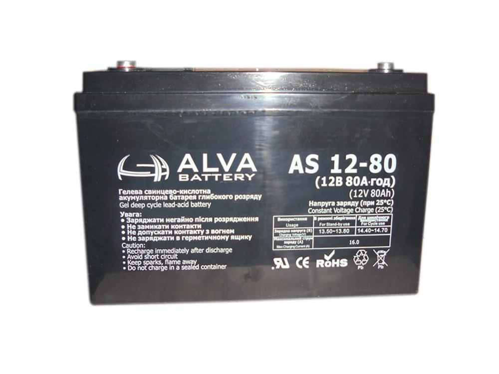 Аккумуляторная батарея Alva AS12-80 GEL - фото