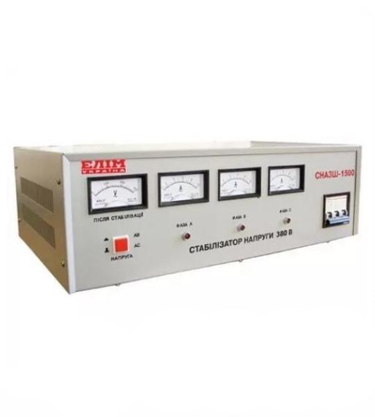 Стабилизатор Elim СНАЗШ-1500 VA (шкафный, электромех. трехфазный) - фото
