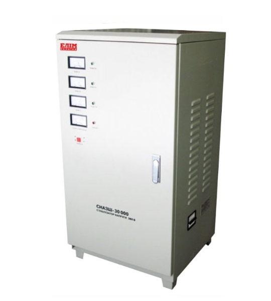 Стабилизатор Elim СНАЗШ-30000 VA (шкафный, электромех. трехфазный) - фото