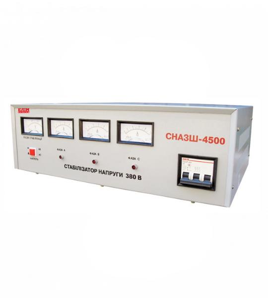 Стабилизатор Elim СНАЗШ-4500 VA (шкафный, электромех. трехфазный) -фото
