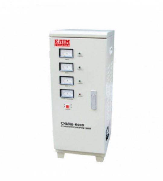 Стабилизатор Elim СНАЗШ-6000 VA (шкафный, электромех. трехфазный) - фото