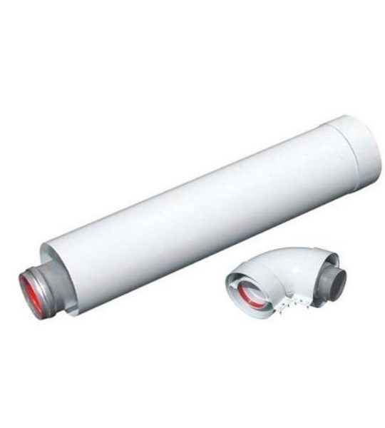 Коаксиальный комплект на Immergas (труба + угол) - фото