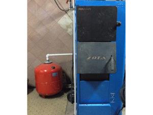 Монтаж котельной на автоматическом твердотопливном котле Zota Magna 45 кВт.