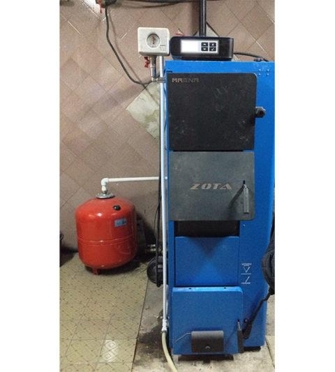 Завершен очередной монтаж котельной на автоматическом твердотопливном котле Zota Magna 45 кВт. - фото