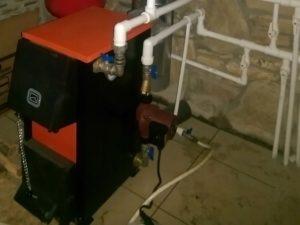Монтаж твердотопливного котла 15 кВт в Судаке