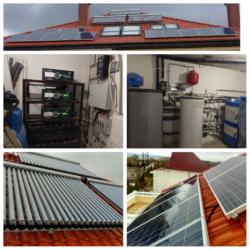 Гелиосистема, гибридная фотоэлектрическая система, система отопления - фото