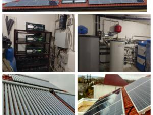Гибридная фотоэлектрическая система и система отопления в Севастополе