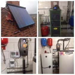 Гелиосистема ГВС и система отопления в г.Симферополь - фото