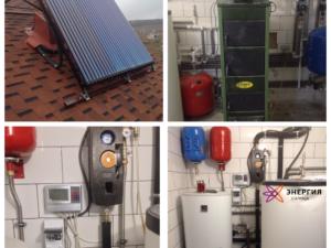 Гелиосистема ГВС и система отопления в г.Симферополь