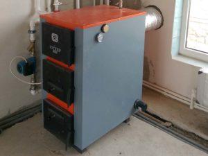 Монтаж твердотопливного котла 42 кВт и гелиосистемы в селе Аромат