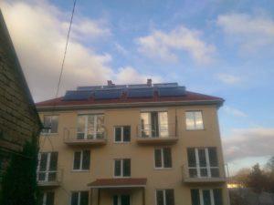 Монтаж гелиосистемы ГВС на 40 человек и ИБП на 900 Вт в Симферополе