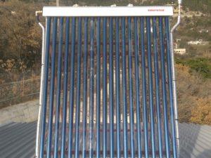 Монтаж гелиосистемы ГВС на 200 литров и твердотопливного котла мощностью 50 кВт в Ялте