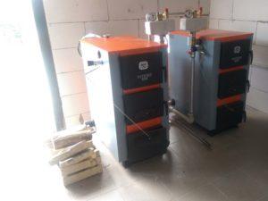 Установка твердотопливных котлов на 42 кВт в Любимовке