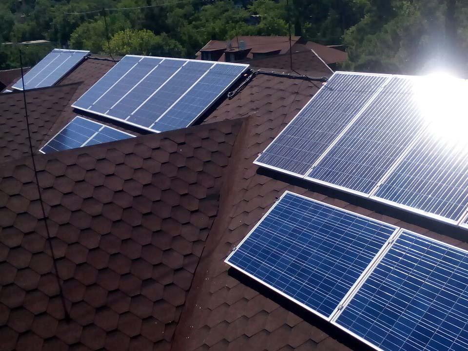 п. Семидворье, гибридная солнечная электростанция 6 кВтчас - фото