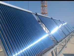 Гелиосистема горячего водоснабжения на 8000 литров в Гурзуфе