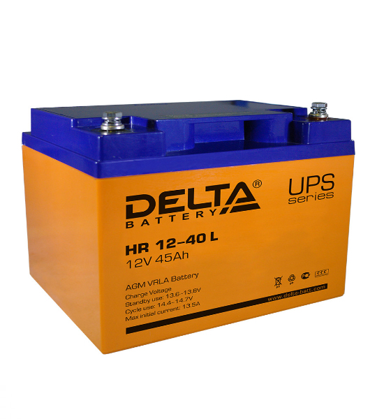 Аккумуляторная батарея Delta HR 1240 L AGM - фото