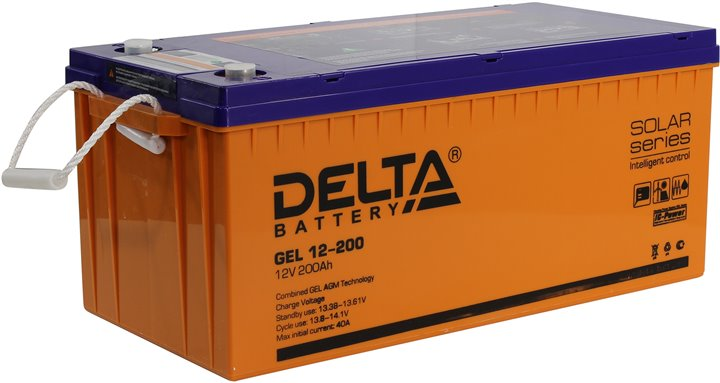 Аккумуляторная батарея Delta GEL 12- 200 - фото