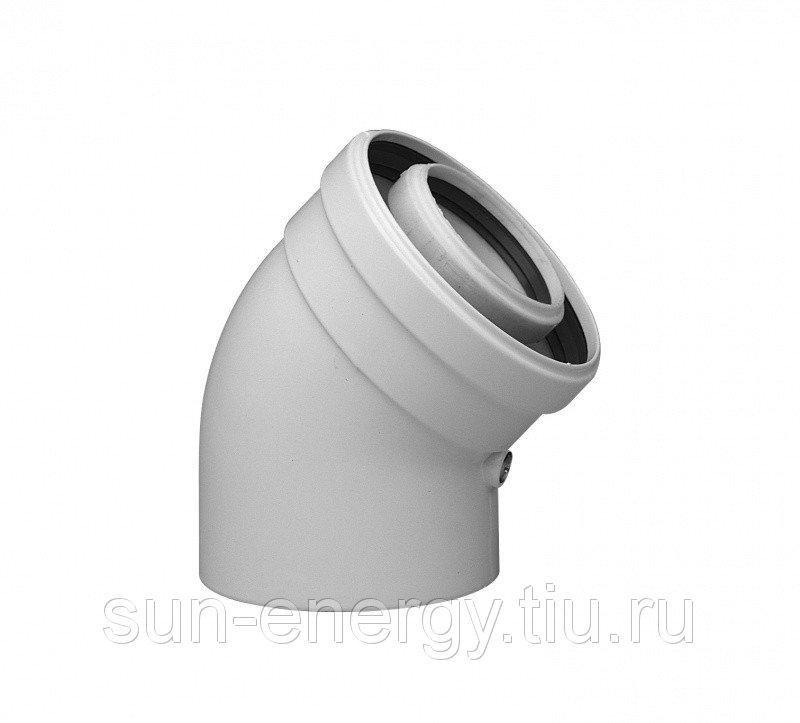 Коаксиальный отвод Baxi полипропиленовый 45°, диам. 60/100 мм, HT 71405981 - фото
