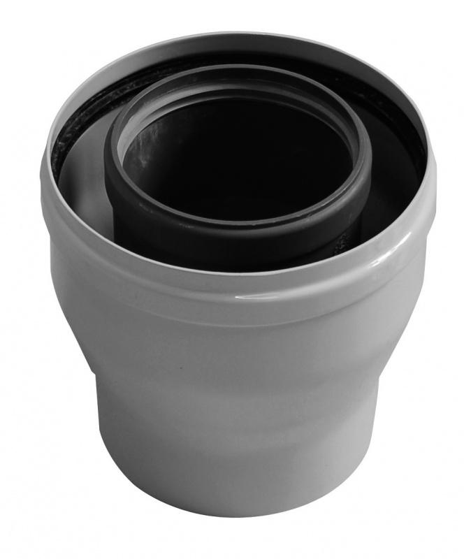 Коаксиальный переходник Baxi с диаметра 60 100 мм на диаметр 80 80 мм, HT - фото