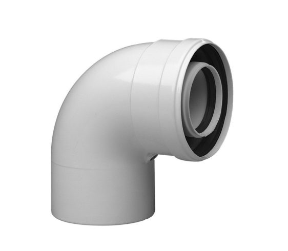 Коаксиальный уголок Baxi 87°, диаметр 110/160 мм, HT 90-110 кВт 714133610 - фото