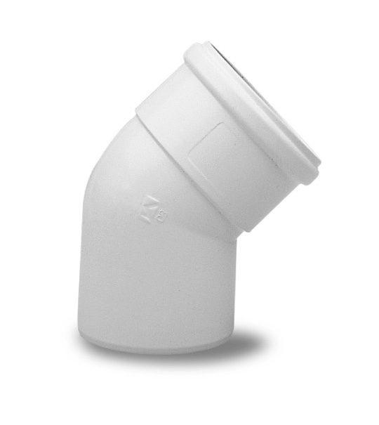 Отвод полипропиленовый Baxi 45°, диам. 80 мм, HT 71405931 - фото