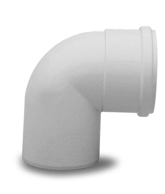 Отвод полипропиленовый Baxi 90°, диам. 80 мм, HT 714059211 - фото