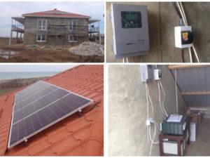 Автономная система энергообеспечения на базе солнечных поликристаллических модулей.