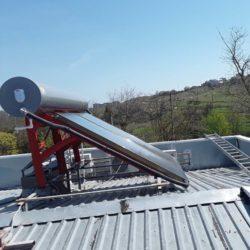 10 термосифонных установок по 200л в коттеджном поселке в г. Щёлкино фото 8