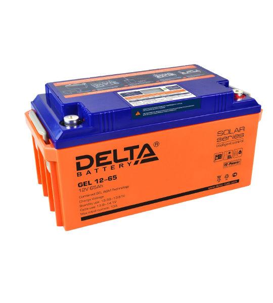 Аккумуляторная батарея Delta GEL 12- 65 - фото